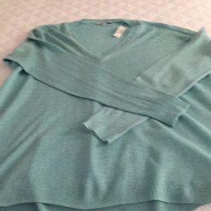 Madewell cotton/linen v-neck